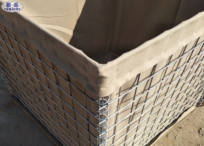 Military Hesco Barriers Sand Filled Barriers Mil 10 For a Shooting Range